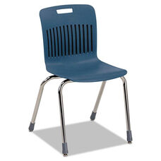 Virco® Analogy Ergonomic Stack Chair - Navy/Chrome - 4/Carton
