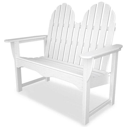 POLYWOOD® Classic Adirondack 48'' Bench - White