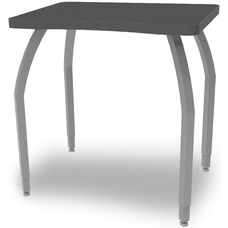 ELO Plymouth XL High Pressure Laminate Junior Sized Desk with Adjustable Legs and 1.25'' Beveled Armor Edge Top - 36''W x 24''D x 21-26''H