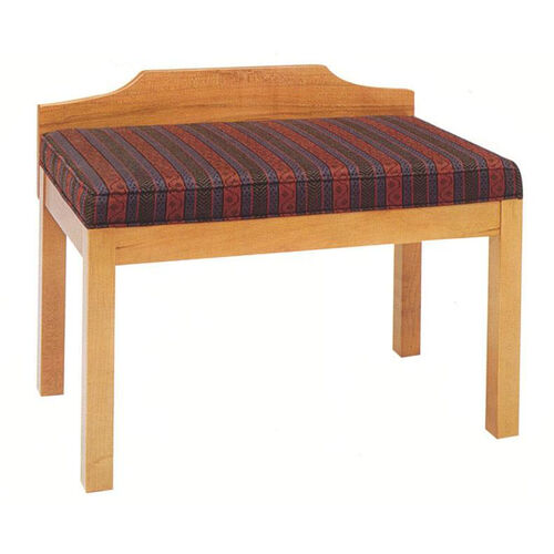 2449 Bench w/ Upholstered Seat & Wood Wall Protector - Grade 2