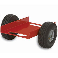 Heavy Duty Steel Frame Caddy with 12.25'' Channel and Airless Rubber Tires