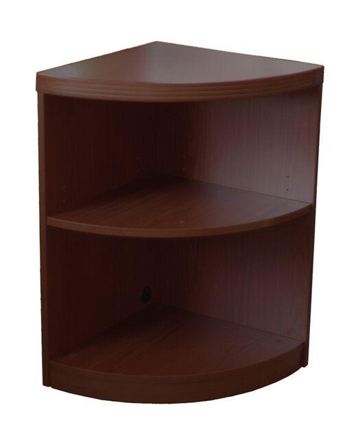Aberdeen Two Shelf Quarter Round 29.5'' H Bookcase - Mocha