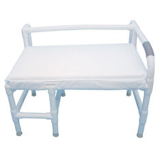 Bariatric Low Back Bath Seat with Cushion Seat - 38''W X 21''D