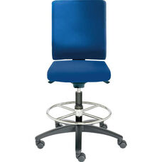 Adjust Medium Height Swivel Stool with Poly Outer Shell