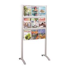 Safco Magazine Rack - Floor Stand 9 Pock - 31 3/4'' x 20'' x 62 3/4'' - SR
