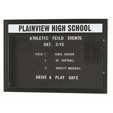 Double Sided Illuminated Community Board with Header and Bronze Anodized Finish - 42''H x 60''W