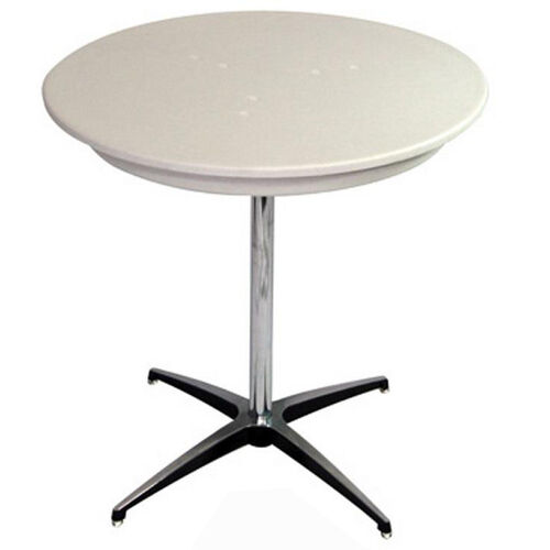 36'' Round Elite Cocktail Series Blow Molded Table Top with 30'' Chrome Finished Column