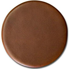 Rustic Leather 4'' Round Coaster - Brown