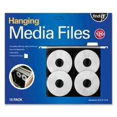 Idea Stream Find It Hanging Cd, Dvd Pages - Pack Of 15