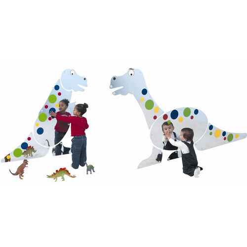 Shatter Resistant Dino Duo Set Wall Hung Mirrors