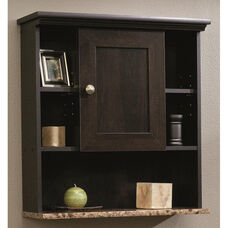 Bath Collection 24.625''H Wall Cabinet with Faux Granite Shelf - Cinnamon Cherry