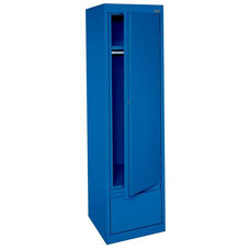 System Series 17'' W x 18'' D x 64'' H Single Door Wardrobe with File Drawer - Blue