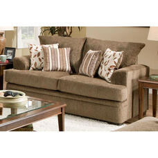 Calexico Transitional Style Polyester Loveseat - Cornell Cocoa