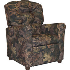 Kids Recliner with Button Tufted Back - Harvest
