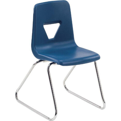 2000 Series Sled Base Stack Chair with 18''H Seat - 20.25''W x 21''D x 30.5''H