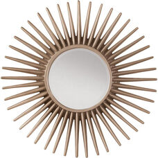 OSP Designs Ella Beveled Wall Mirror with Pewter Sunbeam Frame - Silver