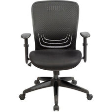Terta 25.2'' x 22.4'' D x 37.4'' H Adjustable Height Office Chair with T Pad Arms - Black