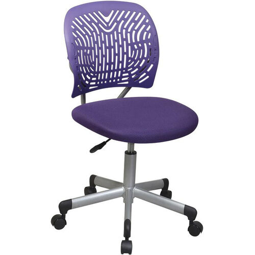 OSP Designs Designer Mesh Seat Computer Task Chair with Seat Height Adjustment and Casters - Purple