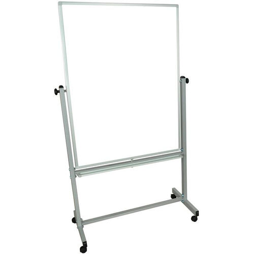 Doubled Sided Aluminum Frame Magnetic Mobile Whiteboard with Marker Tray - 41.5''W x 20.5''D x 72''H