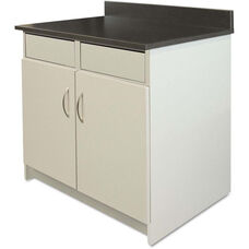 Alera Plus™ Hospitality Base Gray Laminate Cabinet with 2 Flipper Doors - 36''W x 24.75''D x 40''H - Granite Nebula