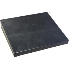 Classic Leather 4.5'' x 8'' Calendar Holder Base - Black