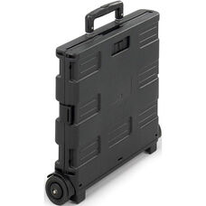 StowAway® 16.5'' W x 14.5'' D x 39'' H Plastic Folding Caddy Crate - Black