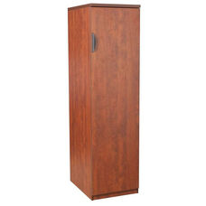 Legacy 65''H Wooden Locking Wardrobe with 3 Adjustable Shelves - Cherry