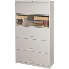 Stak-N-Lok 100 Series 5 High Locking Letter Size Cabinet - Light Gray