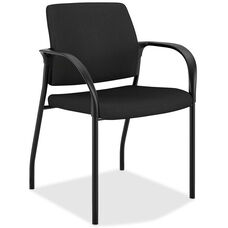 The HON Company Stacking Multipurpose Armchair with Glides - Black