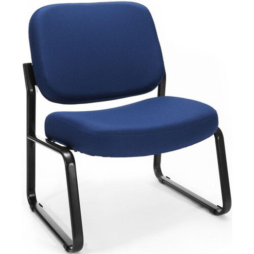 Big & Tall Guest and Reception Fabric Chair - Navy