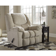 Signature Design by Ashley Turboprop Rocker Recliner in Putty Fabric