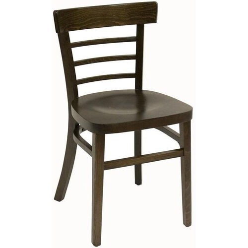 Steak House Wood Guest Chair - Walnut Finish