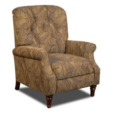 New Hampshire Traditional Style Polyester Recliner - Isle Tobacco