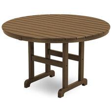 POLYWOOD® Round 48'' Dining Table - Teak