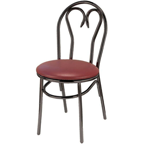 3200 Series Armless Hospitality Chair with Heart Shaped Steel Frame Back and Upholstered Seat