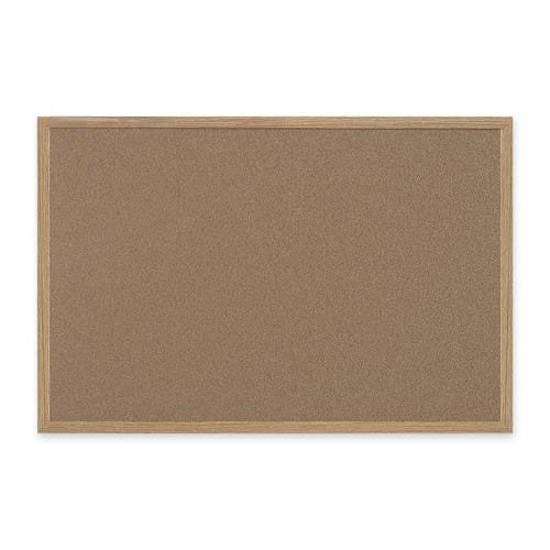 Bi-Silque Cork Board with MDF Frame - 2' x 3' - Brown