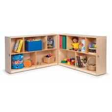 Multi-Purpose Birch Laminate Toddler Fold & Roll Storage Cabinets