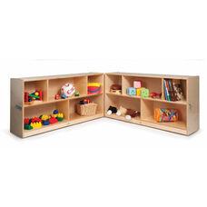Fold and Roll Birch Laminate Storage Cabinet