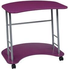 OSP Designs Kool Kolor Computer Desk with Casters - Purple