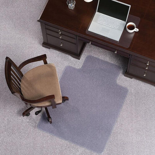 EverLife 36''W x 48''D Extra High Pile Beveled Edge Anchorbar Chairmat with 20''W x 10''D Lip