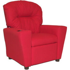Kids Home Theatre Recliner with Cupholder - Rodeo Chili