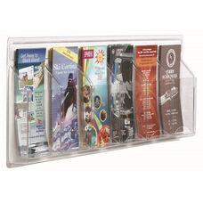 Clear-Vu Pamphlet Display - 6 Pamphlets