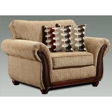 Courtney Transitional Style Polyester Blend Chair - Radar Havana