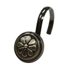 Wagon Wheel 12 Piece Metal Modern Decorative Shower Hooks - Oil Rubbed Bronze