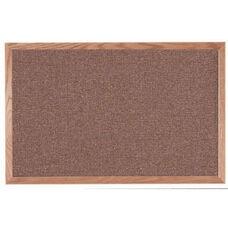 Designer Fabric Bulletin Board with Oak Frame - Rose Quartz - 24''H x 36''W