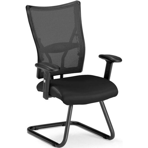 Talisto Executive Mid-Back Leather and Mesh Guest Chair -Black