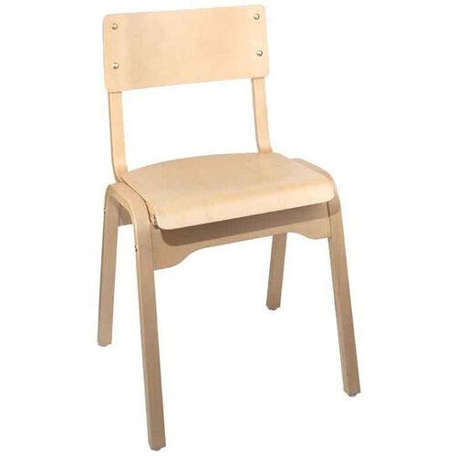 Carlo Armless Stacking Chair - Wood Seat