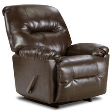 Gennessee Transitional Style Polyester Recliner - Bently Brown