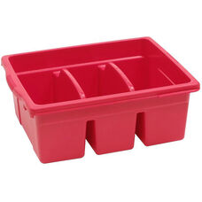 Royal Large Divided Environmentally Friendly Tough Plastic Tub - Red - 15.63''W x 12.56''D x 6''H