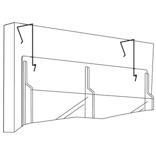Wire Partition Hangers for Reveal™ Displays - Set of Two - Black